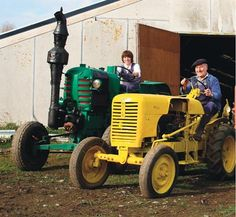 Tracteur Retro - article on a multiple generations of a french family and their collection of ... tractors.