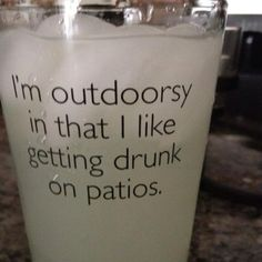 Haha thats about as outdoorsy this girl gets!