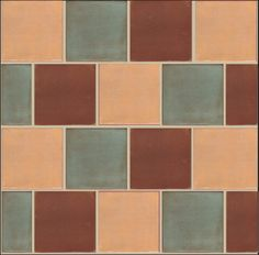 Offset square tile layout