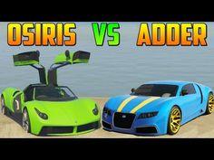 PEGASSI OSIRIS vs ADDER - Test de Velocidad - El Coche Mas Rápido de GTA V Online PS4 - YouTube