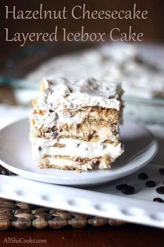 Hazelnut Cheesecake Layered Icebox Cake is a simple no-bake dessert that is packed with a delicate coffee flavor that will have you savoring every bite.