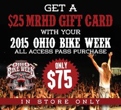 Get your tickets now!!! If you are going to Ohio Bike Week, you should buy your tickets now:  113 out of 500 Left of 50% DISCOUNT VIP passes left --- Offer lasts until the tickets are sold or January 31st  2015 Dates are May 29 to June 7 **Discounted OH Bike Week Tickets at www.ohiobikeweek.com/event-tickets.php **Info at www.lightningcustoms.com/ohio-bike-week.html  #ohiobikeweek #ohbikeweek #bikeweekohio #ohbikeweekdiscountedtickets
