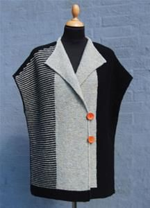 Hanne Falkenberg AVENUE vest/cape i retstrikning Knit Vest Pattern, Sweater Knitting Patterns, Knitting Designs, Knit Patterns, Knitting Projects, Sewing Clothes, Crochet Clothes, Vintage Knitting, Baby Knitting