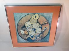 Vintage Print of Musical by G. Rodo Boulanger 1973 in Silver Color Frame