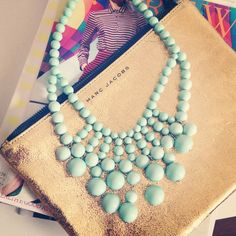 enter to win this gorgeous mint necklace from Urban Peach Boutique at everydaychicstyle.blogspot.com #giveaway