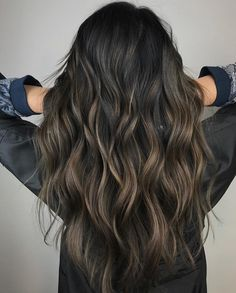 Long Wavy Ash-Brown Balayage - 20 Light Brown Hair Color Ideas for Your New Look - The Trending Hairstyle Brown Hair Balayage, Brown Blonde Hair, Brunette Hair, Hair Highlights, Ombre Hair, Balayage Brunette, Brown Hair Cuts, Brown Hair Looks, Light Brown Hair