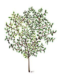 ideas for sweet olive tree tattoo Pine Tattoo, Tattoo Tree, Watercolor Walls, Watercolor Trees, Watercolor Paintings, Sweet Olive Tree, Olive Tree Tattoos, Purple Trees, Purple Colors