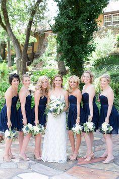 Bridesmaids Navy Blue Strapless Dresses | Centerville-Estate-Wedding-Photographer-Chico-California-TréCreative