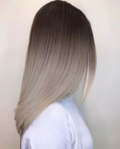 Black to silver or ash blond maybe kinda looks grey - ombre. This blowout looks incredible!