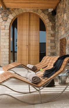 Time to relax. Greece Vacation, Greece Travel, Mykonos, Santorini, Just Relax, Barcelona Chair, Greek Islands, Outdoor Furniture, Outdoor Decor