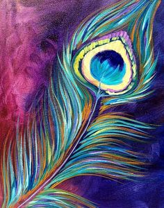 Peacock Feather By Cinnamon Cooney The Art Sherpa as a Fully guided art… Peacock Painting, Peacock Art, Peacock Feathers, Peacock Colors, Peacock Canvas, Peacock Drawing, Feather Art, Peacock Design, Image Summer