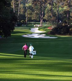 The walk down 10 Augusta National  Masters 2010, Martin Kaymer (later the 2010 PGA Champion)