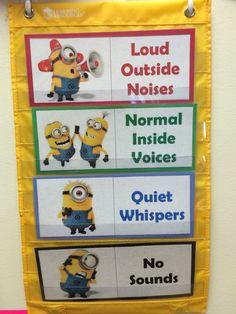 Minion theme classroom: noise level chart