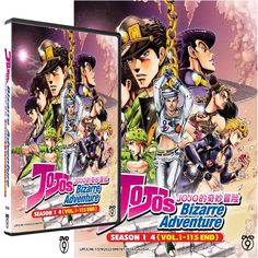 JOJO'S BIZARRE ADVENTURE SEASON 1 - 4 BOX SET DVDs