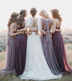 paarse trouwjurk