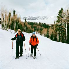 Snowshoeing in Park City, Utah