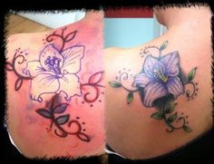 Beautiful lily flower tattoos design images