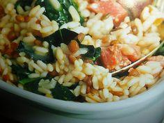 un mondo di ricette: risotto saporito con foglie di cavolo nero