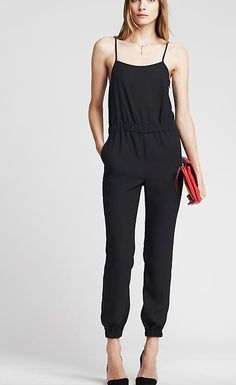 Navy Drapey jumpsuit from Banana Republic