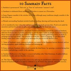 Samhain is pronounced 'Sah-win' or 'Sow-in' and means 'summer's end'. It is celebrated from sunset on 31 October to sunset 1 November. Some Pagans consider it the witches New Year, although many traditions simply consider it to the end of the year ... #Samhain #pagan #Halloween