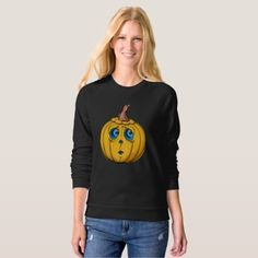 Halloween Pumpkin Sweatshirt - holidays diy custom design cyo holiday family