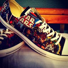 Hey, I found this really awesome Etsy listing at https://www.etsy.com/listing/188831951/star-wars-comic-cover-converse