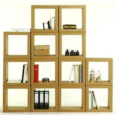 modulos para estanterias de carton