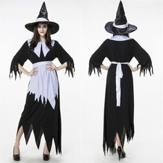 Irregular Black Halloween Witch Costumes 2015 Christmas Carnival Adult The Wizard of Oz Devil Cosplay Party Witches Costumes