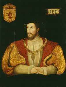 Portrait of James V, King of Scotland, Son of Margaret Tudor and father of Mary, Queen of Scots.