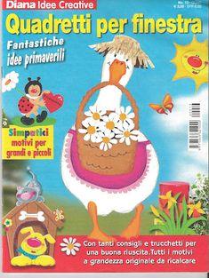 Diana Idee Creative Quadretti per finestra - jana rakovska - Àlbums web de Picasa Magazine Crafts, Magazines For Kids, Book Folding, Paper Decorations, Classroom Decor, Easter Crafts, Crafts To Make, Clip Art, Album