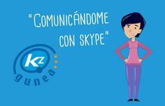 Kontxi descubre que es muy fácil comunicarse con su familia por Skype