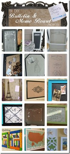 31 DIY Bulletin & Memo Board Projects | curated by 'Plum Doodles' blog!