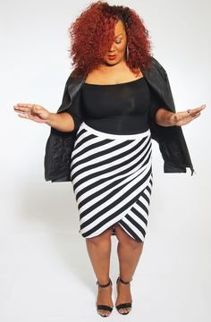 8c5a1f5a71661 AVA + VIV (Target Plus Size line) Striped Skirt via The Curvy Fashionista  blog