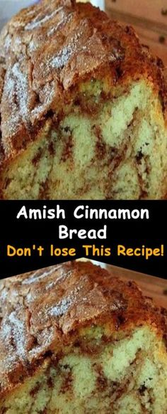 Amish Cinnamon Bread Recipe All you need : FOR BATTER: 1 C. butter, softened 2 C. sugar 2 Eggs 2 C. buttermilk or 2 C. milk plus 2 TBSPS. vinegar or lemon juice 4 C. baking soda Cinnamon,sugar mixture: C. Köstliche Desserts, Dessert Recipes, Cake Recipes, Baking Recipes, Amish Bread Recipes, Amish Bread Pudding Recipe, Baking Soda Bread Recipe, Cinnamon Amish Bread, Amish Sweet Bread Recipe
