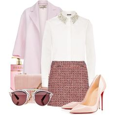 Blush by jacisummer on Polyvore featuring DKNY, Paul Smith, dVb Victoria Beckham, Christian Louboutin, Chanel, Christian Dior and Prada