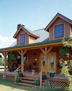 log cabin porch ideas | Pioneer Log Systems , is a manufacturer and distributor of custom log ...