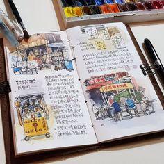 這本子40頁,前半宜蘭,後半嘉義 希望下一張可以po嘉義的部分,繼續努力~ #橘枳繪日記 #宜蘭散步 #路上觀察 #murmur #vscocam #usk #urbansketch #urbansketchers #sketchbook #sketch #sketchwalker #diary #drawing #painting #watercolor #archisketcher #sketchoftheday #dailysketch #sketchwalker #stationery #doodle #文房具 #橘枳 #繪日記 #絵日記 #手帳 #橘逾淮為枳