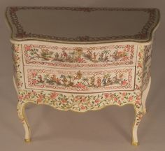 Chinoiserie Italian Chest of Drawers by Janet Reyburn - $685.00 : Swan House Miniatures, Artisan Miniatures for Dollhouses and Roomboxes