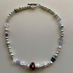 Funky Jewelry, Cute Jewelry, Diy Jewelry, Beaded Jewelry, Jewelery, Jewelry Accessories, Handmade Jewelry, Beaded Necklace, Jewelry Making