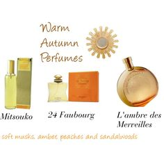 Warm Autumn Perfumes by expressingyourtruth on Polyvore featuring beauty, Hermès, Guerlain and Worlds Away