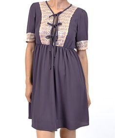 Take a look at this Purple Sequin Tie-Front Dress by Potter's Pot on #zulily today!