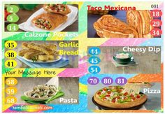 Dominos Food Anywhere 5 in 90 - 9x3 - 18 Cues format : Templates Tickets | Tambola Housie