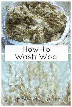 How to Wash Fiber and Wool without felting it! This cleaning technique works great on all animal fibers including sheep wool, mohair (goat), alpaca, etc. Fiberartsy.com