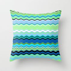 Color Waves Ocean Throw Pillow Cover by Lisa Argyropoulos - $20.00