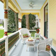 Use oil-based paint for porch floors and any trim that is regularly touched.
