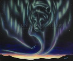 Sky Dance Series of a bear by Amy Keller-Rempp Art. by acrylic on canvas. Original still available. Giclee prints and fine art cards also available. Canadian Wildlife, Aboriginal Artists, Art Cards, Spirit Animal, Giclee Print, Northern Lights, Amy, Bear, Dance