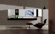contemporary lacquered TV wall system NEW CONCEPTS : SMARTWALL by M.Castagna Acerbis International