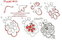 How to draw Paisley Flower 10 by *Quaddles-Roost on deviantART