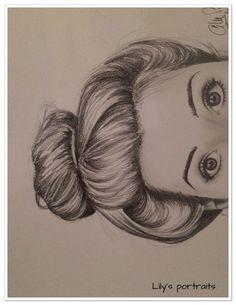 portrait REGARD au crayon graphite gras : Dessins par aurelie-ledoux