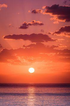 Paphos Sunset #sky red sea ocean wave beach clouds sun amazing aww omg
